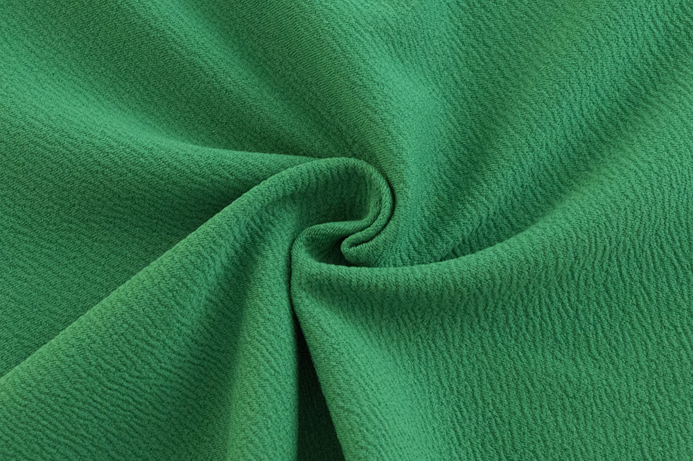 End of Bolt: 2-1/8th yards of Fashion Kelly Green Liverpool Solid Knit-remnant