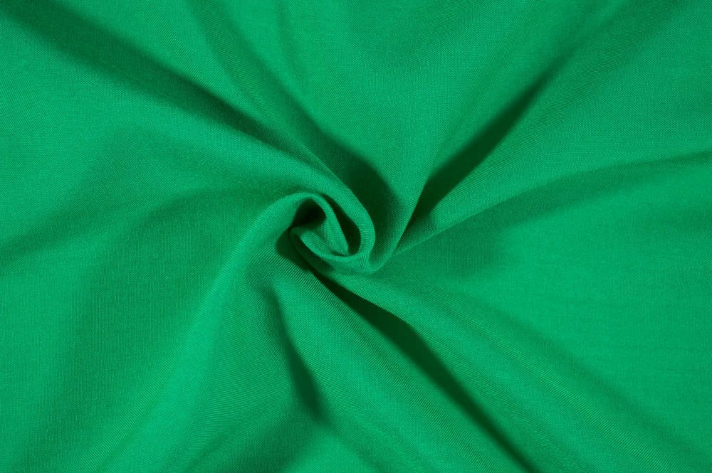 Fashion Kelly Green Rayon Challis Solid Woven- By the yard