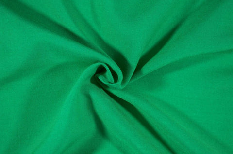 Kelly Green Rayon Challis Solid