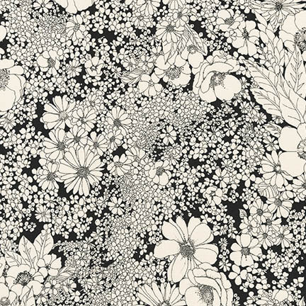 Laurel Canyon Vintage Black Floral Woven