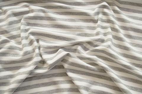 Ponte De Roma Stripe Light Heather Grey and White Knit