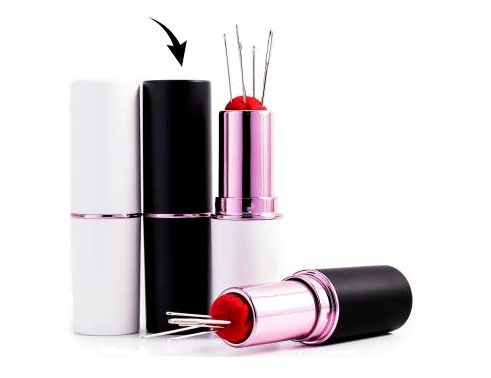 Notions: Lipstick Needle & Pin Case- Black