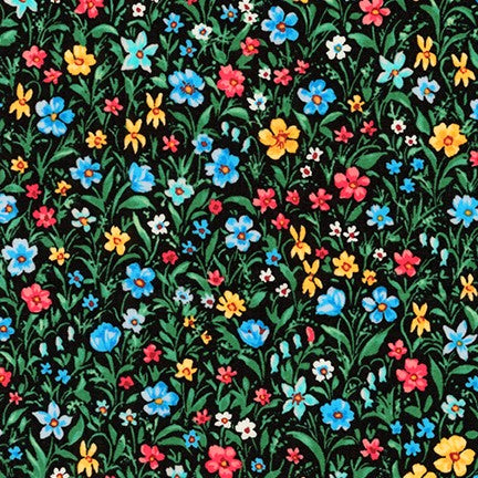 Kaufman London Calling Multi Floral Cotton Lawn Woven