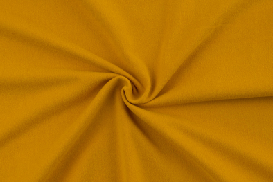 Double Brushed Poly Mustard Yellow Knit Solid
