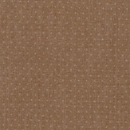 End of Bolt: 3-1/4th yards of Quotes Chambray Brown Woven