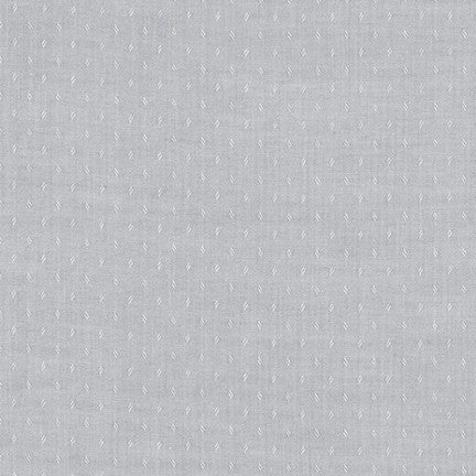 End of Bolt: 1/2 yard of Quotes Chambray Silver Woven