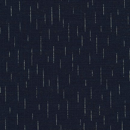 End of Bolt : 2 yards of  Kaufman Sevenberry Nara Homespun Rain In Indigo