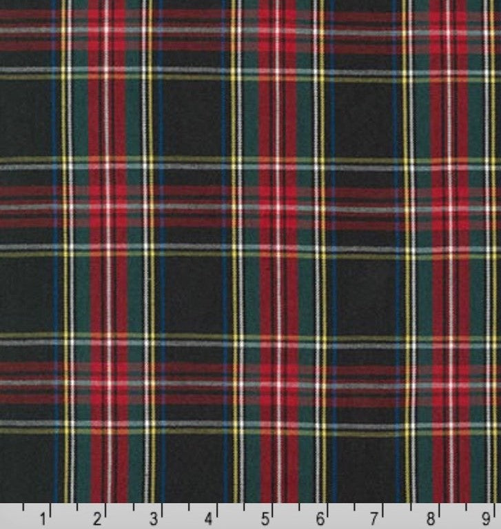 Kaufman House of Wales Black Plaid Woven