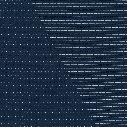 End of Bolt: 2 yards of Stitched Double Sided Navy Chambray Woven