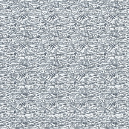 Kaufman Tootal Grey Abstract High Count Poplin- By the Yard