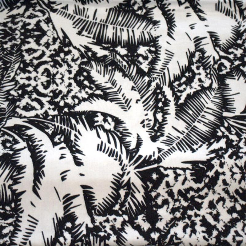 End of Bolt: 3-5/8th yards of Famous Maker Tropical Rayon Spandex Jersey Knit