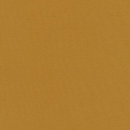 End of Bolt: 3-1/8th yards of Kaufman Stretch Jetsetter Twill Fabric Mustard Woven 7.5 oz