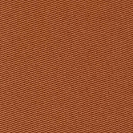 End of Bolt: 7/8th yard of Kaufman Ventana Twill Brick Brown Woven Non-Stretch 7.9 oz
