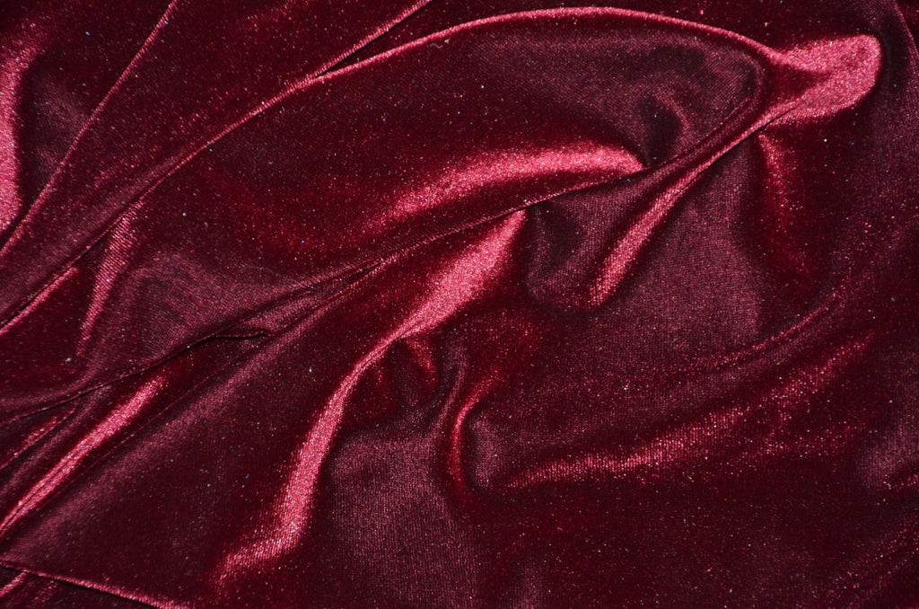 Burgundy Fashion Stretch Velvet Knit