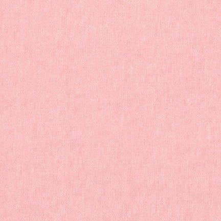 Kaufman Worker Chambray Cotton Blend Pink Hue Woven- by the yard