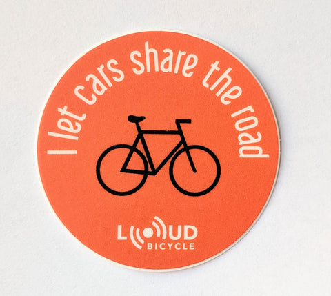 Loud Bicycle Stickers