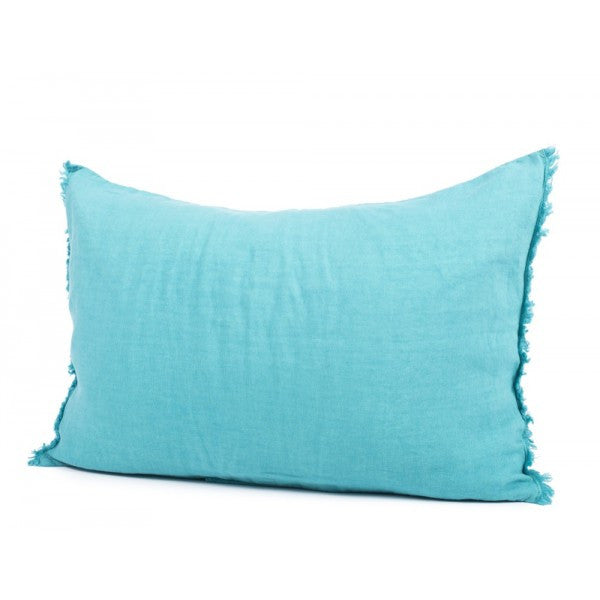 Avignon Linen Cushions with Frayed Edging