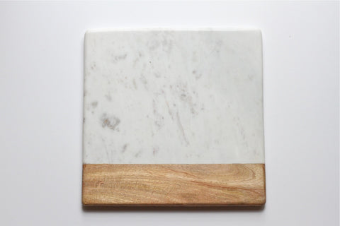 Wood & Marble Square Board