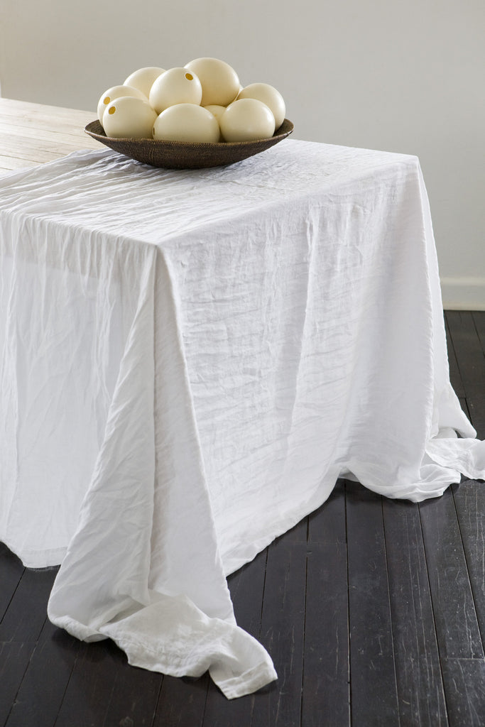 Avignon Washed Linen Tablecloth - Mustard