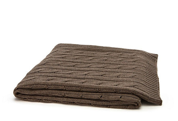 Cashmere Cable Knit Throw