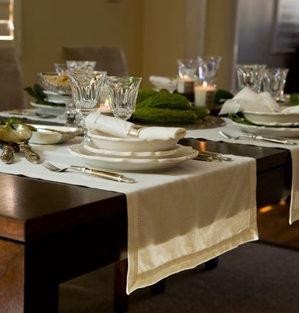Cotton Hemstitch Table Runner