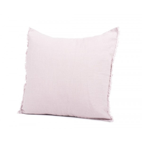 Linen Fringed Cushion - Lavender