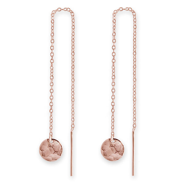 Rose Gold Jingle Disk Earrings