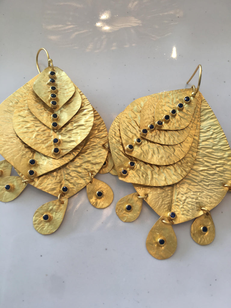Gold Ibiza Drop Earrings
