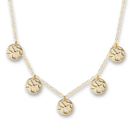 Gold Single Jingle Necklace