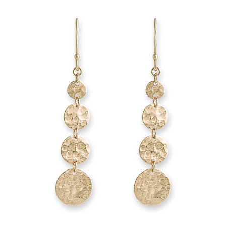 Gold 4 Disc Earrings