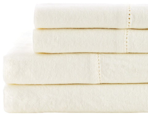 Easy Care Linen Hemstitch Duvet