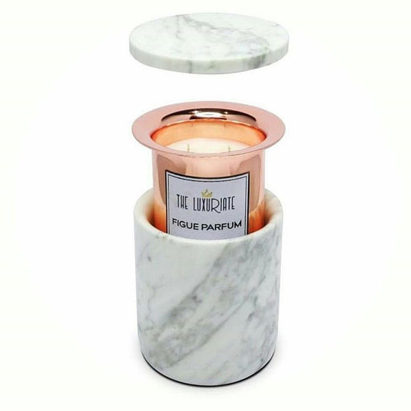 Refillable Gold Concrete Candle