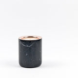 Refillable Black Marble Candle