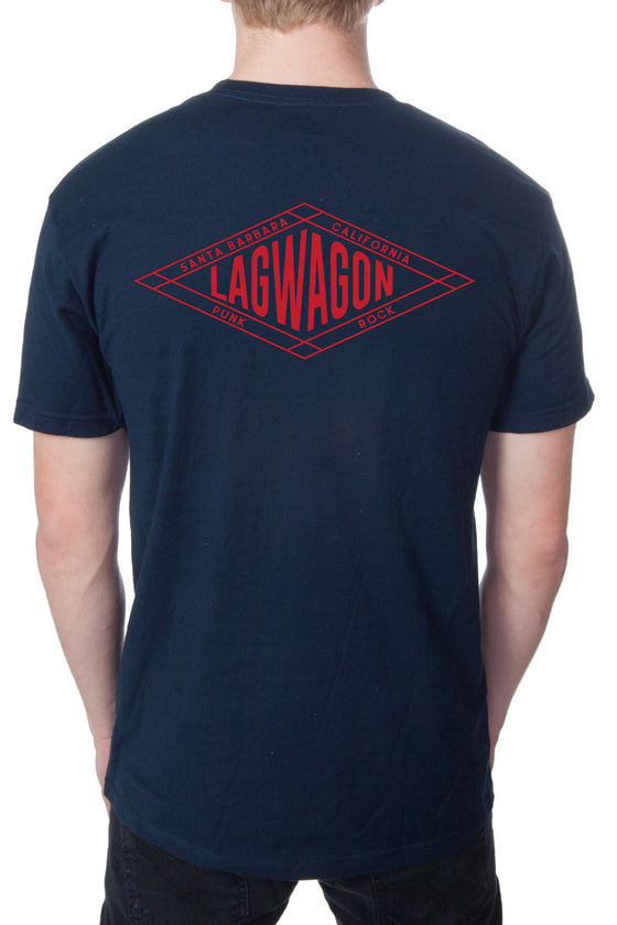 Lagwagon Diamond Tee Navy