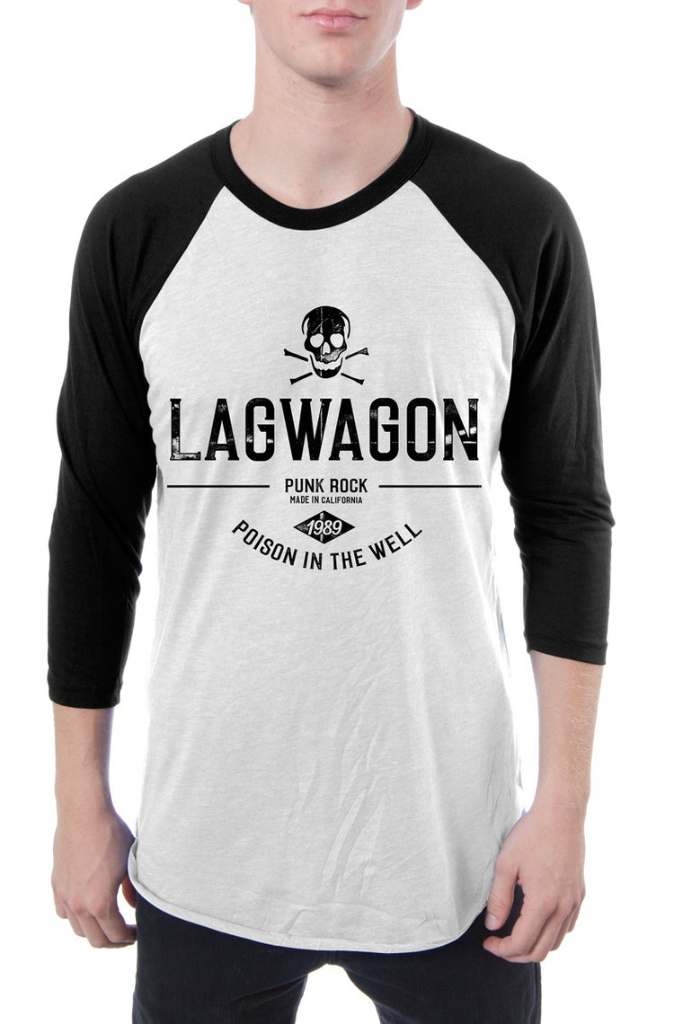 Lagwagon Poison The Well Raglan Tee White Black