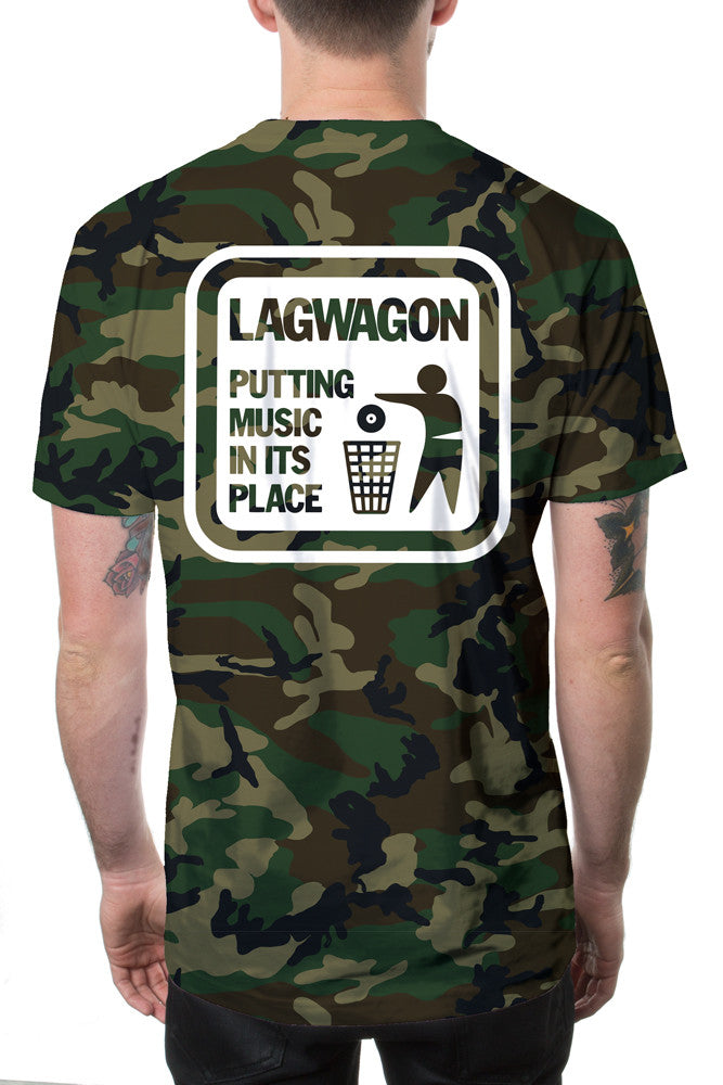 Lagwagon Putting Music Tee Camo