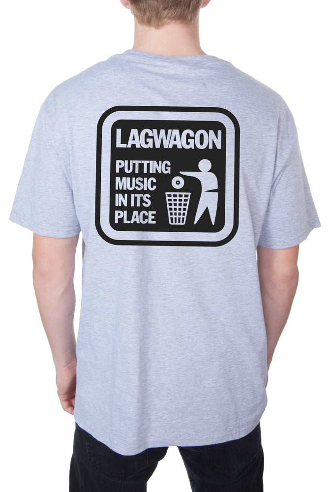 Lagwagon Putting Music Tee Heather Grey