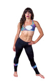Funky Diva strappy bra top with insert legging