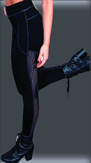 0231 - Funky Diva Legging with Mesh Insert