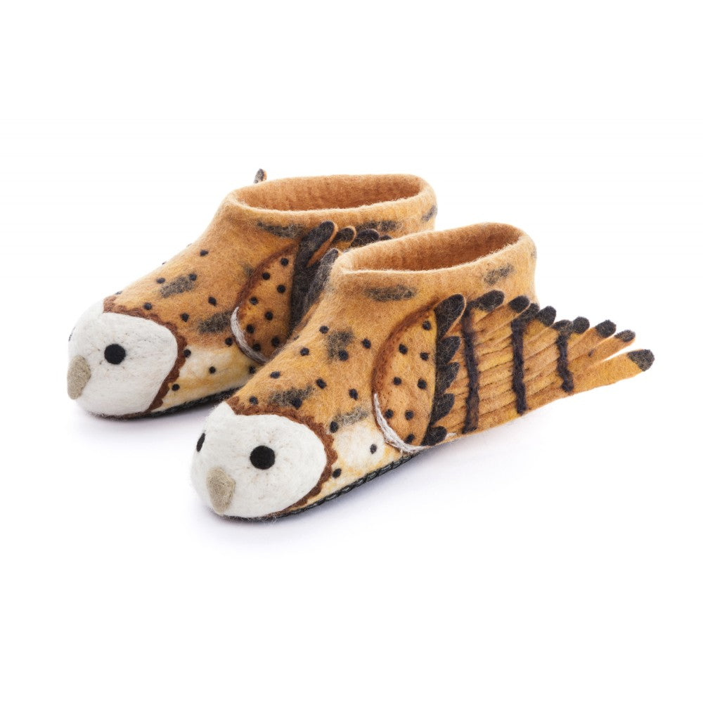 Barny Owl -  Adult Slippers - Design Withdrawals - Design Withdrawals
