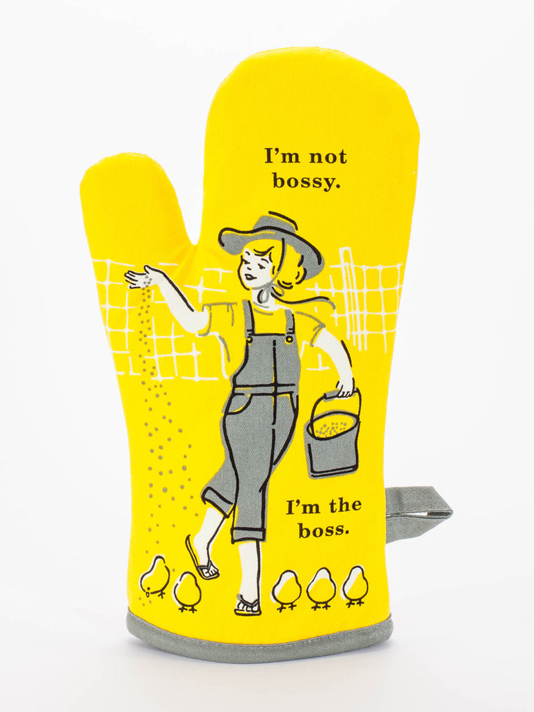 Oven mitt - I'm not bossy, I'm the boss - Design Withdrawals