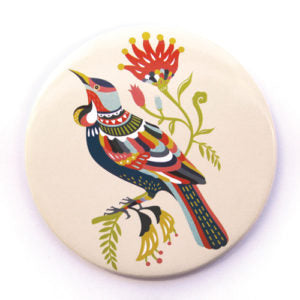 Pocket Mirror - Colourful Tui