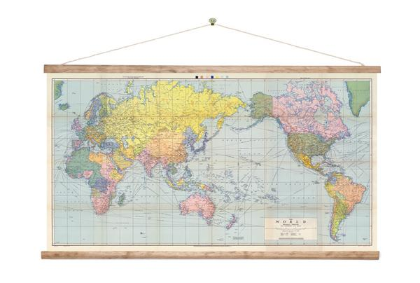 World Map - Wall Chart - Design Withdrawals - Design Withdrawals