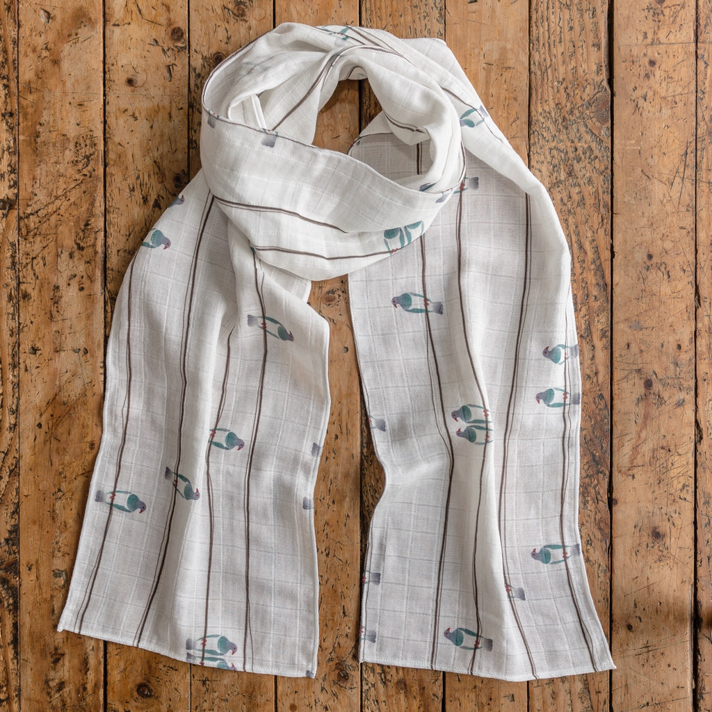 Birds on a Wire - Kereru - Scarf - Design Withdrawals - Design Withdrawals