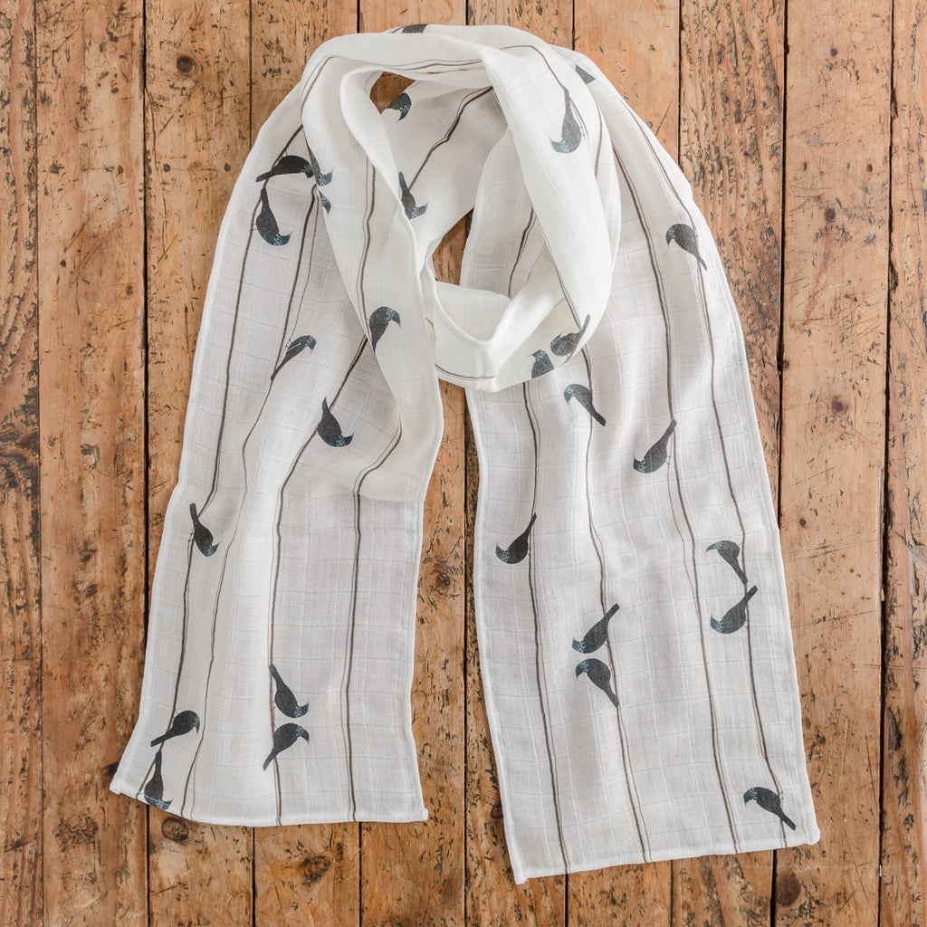 Bird on a Wire - Tui - Scarf - Design Withdrawals - Design Withdrawals