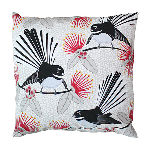 Flirting Fantails Cushion Cover
