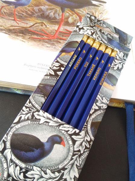 Wolfkamp & Stone - NZ Native Birds 6 Pkt - Pencils
