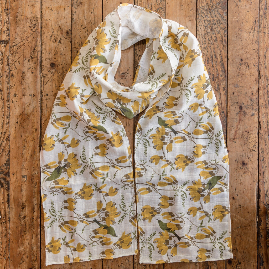 Kowhai - Botanical Scarf - Design Withdrawals - Design Withdrawals