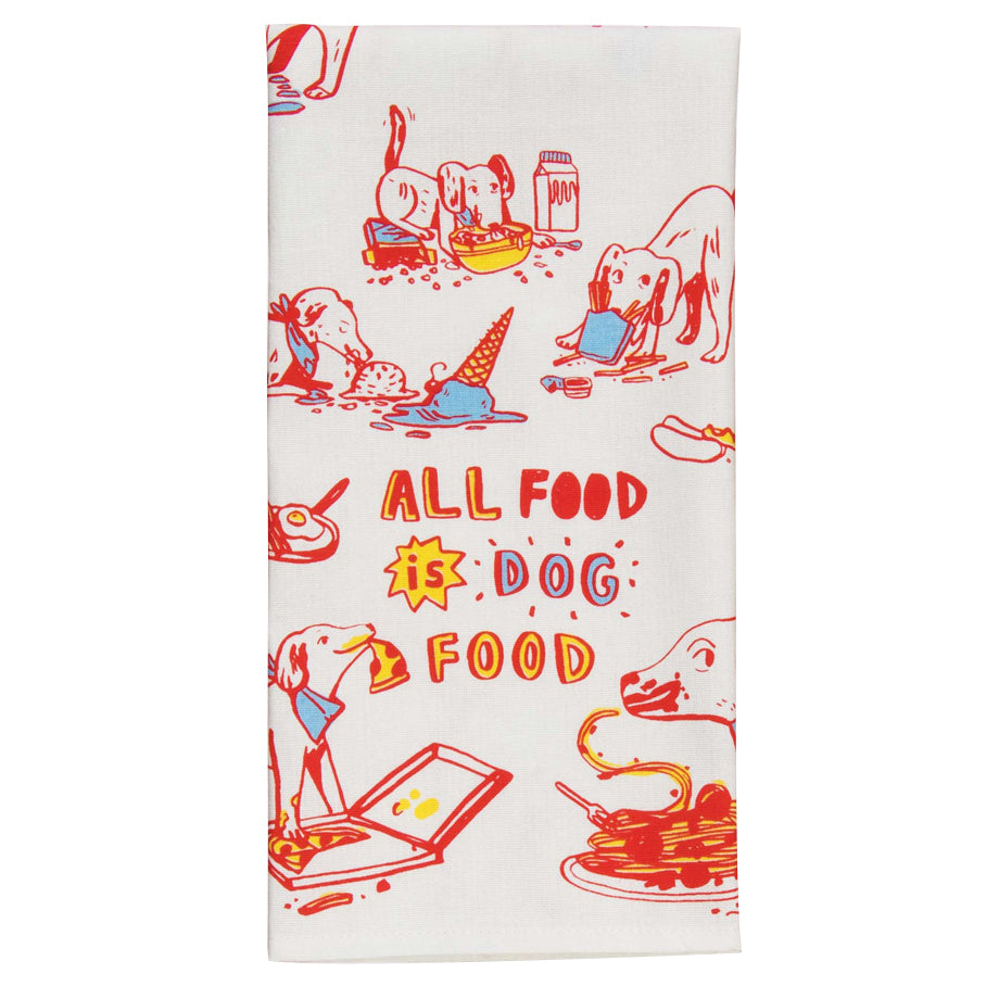 All Food is Dog Food - Tea Towel - BlueQ - Design Withdrawals