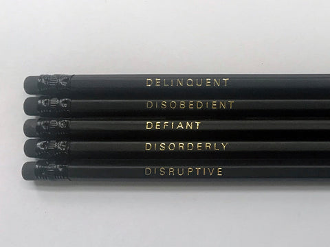 Delinquent pencils by Black Batch